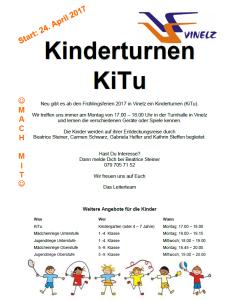 Kinderturnen KiTu; Flyer