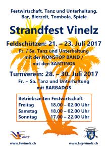 Flyer Strandfest 2017